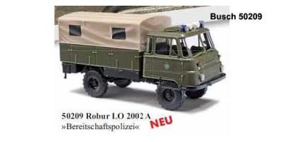 Busch H0-5627 Robur LO 2002A »Rotes Kreuz« mit blauen Blinkleuchten